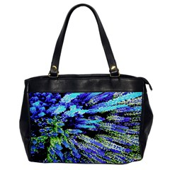 Colorful Floral Art Office Handbags by yoursparklingshop