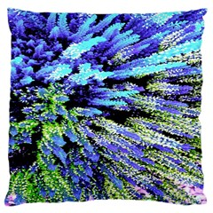 Colorful Floral Art Large Cushion Case (one Side) by yoursparklingshop