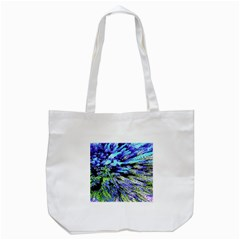 Colorful Floral Art Tote Bag (white)