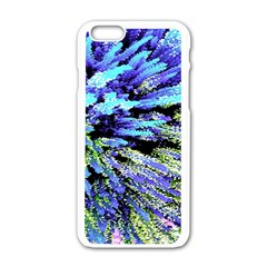 Colorful Floral Art Apple Iphone 6/6s White Enamel Case by yoursparklingshop