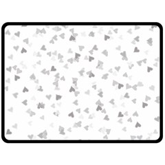 Silver Hearts Confetti Double Sided Fleece Blanket (large)  by theimagezone