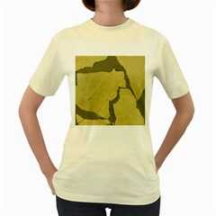 Stylish Gold Stone Women s Yellow T Shirt by yoursparklingshop