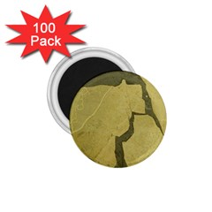Stylish Gold Stone 1 75  Magnets (100 Pack)  by yoursparklingshop