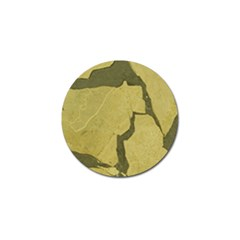 Stylish Gold Stone Golf Ball Marker (10 Pack) by yoursparklingshop