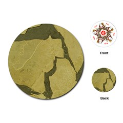 Stylish Gold Stone Playing Cards (round)  by yoursparklingshop