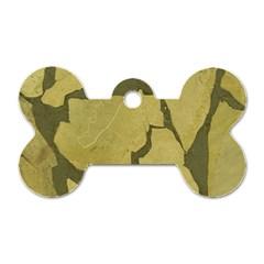 Stylish Gold Stone Dog Tag Bone (one Side) by yoursparklingshop