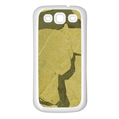 Stylish Gold Stone Samsung Galaxy S3 Back Case (white) by yoursparklingshop