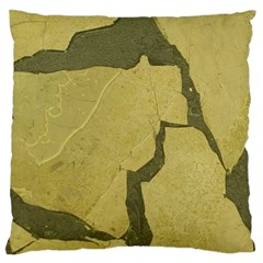 Stylish Gold Stone Large Flano Cushion Case (two Sides) by yoursparklingshop
