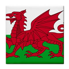 Flag Of Wales Tile Coasters