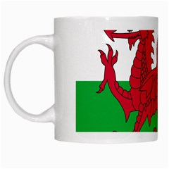 Flag Of Wales White Mugs