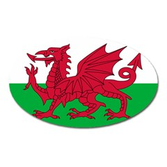 Flag Of Wales Oval Magnet