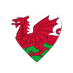 Flag Of Wales Heart Magnet by abbeyz71