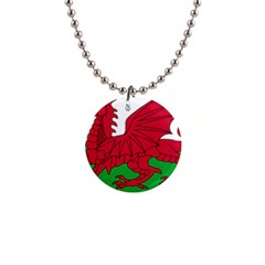 Flag Of Wales Button Necklaces