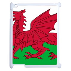 Flag Of Wales Apple Ipad 2 Case (white) by abbeyz71
