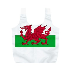 Flag of Wales Full Print Recycle Bags (M)  by abbeyz71