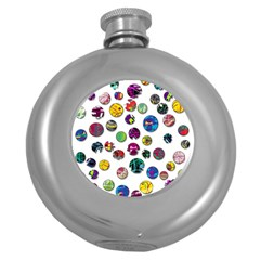 Play With Me Round Hip Flask (5 Oz) by Valentinaart