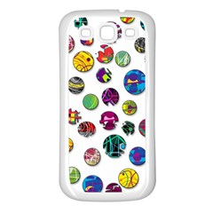 Play With Me Samsung Galaxy S3 Back Case (white) by Valentinaart