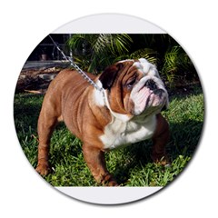 Bulldog Full Round Mousepads by TailWags