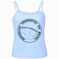 National Seal of Brazil  Baby Blue Spaghetti Tank by abbeyz71