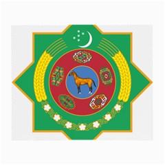 National Emblem Of Turkmenistan  Small Glasses Cloth by abbeyz71