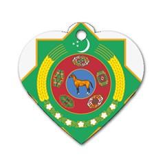 National Emblem Of Turkmenistan  Dog Tag Heart (two Sides) by abbeyz71