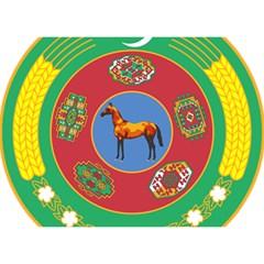 National Emblem of Turkmenistan, 2000-2003 Birthday Cake 3D Greeting Card (7x5) by abbeyz71