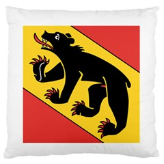 Flag Of Canton Of Bern Standard Flano Cushion Case (two Sides)
