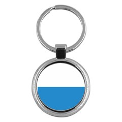 Flag Of Canton Of Lucerne Key Chains (round)