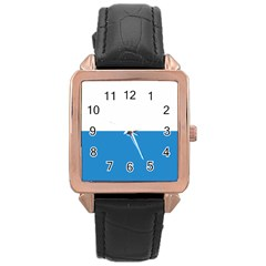 Flag Of Canton Of Lucerne Rose Gold Leather Watch  by abbeyz71