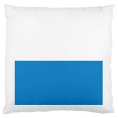 Flag Of Canton Of Lucerne Large Flano Cushion Case (one Side)