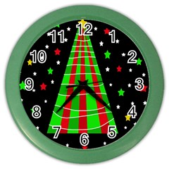 Xmas Tree  Color Wall Clocks by Valentinaart