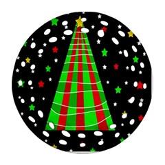 Xmas Tree  Round Filigree Ornament (2side) by Valentinaart