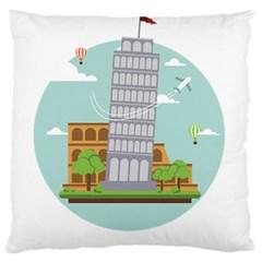 Roma Landmark Landscape Italy Rome Standard Flano Cushion Case (Two Sides) by Zeze