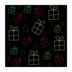 Xmas Gifts Medium Glasses Cloth (2 Side) by Valentinaart