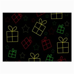 Xmas Gifts Large Glasses Cloth by Valentinaart