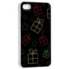 Xmas Gifts Apple Iphone 4/4s Seamless Case (white) by Valentinaart