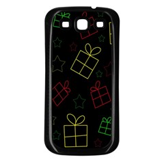 Xmas Gifts Samsung Galaxy S3 Back Case (black) by Valentinaart