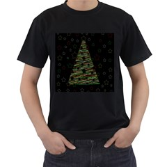 Xmas Tree 2 Men s T Shirt (black) (two Sided) by Valentinaart