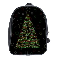 Xmas Tree 2 School Bags(large)  by Valentinaart