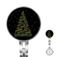 Xmas Tree 2 Stainless Steel Nurses Watch by Valentinaart