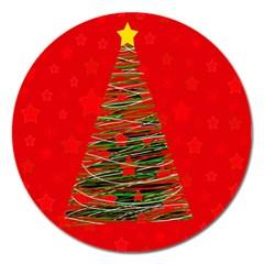 Xmas Tree 3 Magnet 5  (round) by Valentinaart