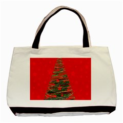 Xmas Tree 3 Basic Tote Bag by Valentinaart
