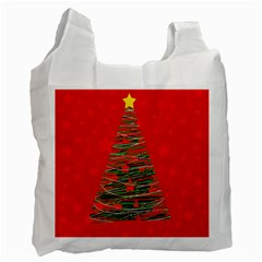 Xmas Tree 3 Recycle Bag (one Side) by Valentinaart