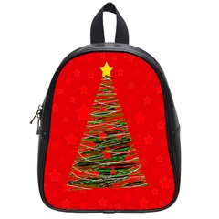 Xmas Tree 3 School Bags (small)  by Valentinaart