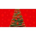 Xmas tree 3 Best Friends 3D Greeting Card (8x4) Back