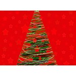 Xmas tree 3 BOY 3D Greeting Card (7x5) Back