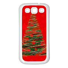 Xmas Tree 3 Samsung Galaxy S3 Back Case (white) by Valentinaart