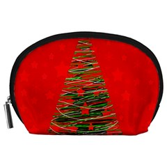 Xmas Tree 3 Accessory Pouches (large)  by Valentinaart