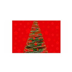 Xmas Tree 3 Satin Wrap by Valentinaart