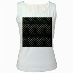 Snake Scales Shiny Skin Women s White Tank Top by Zeze